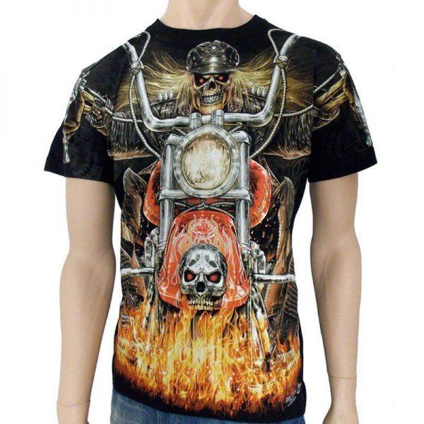 T-shirt med Biker motiv